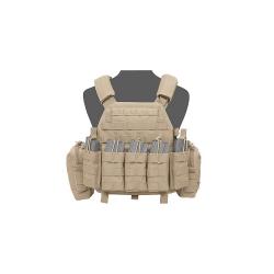 Warrior DCS Plate Carrier AR15 open, Coyote