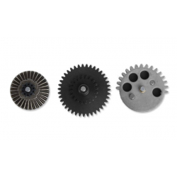 CNC reinforced gear set 18:1 - New type with integrated axis