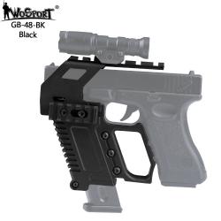 Taktický KIT GB-48 s RIS pro náhradní zásobník pro Glock 17/18/19 - černý
