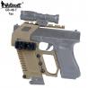 Taktický KIT GB-48 s RIS pro náhradní zásobník pro Glock 17/18/19 - pískový