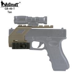 Montáž kolimátoru GB-49 s RIS pro Glock 17/18/19 - černý