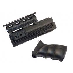 RIS předpažbí + pažbička pro AK47, černá