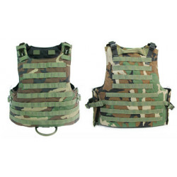 Tacitcal Body Armor (Woodland Camo) - Large