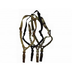 Tactical  1-point bungee sling, robust - black