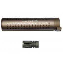 QD silencer 175 x 38 mm - TAN