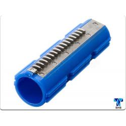 Reinforced 15 metal half teeth piston