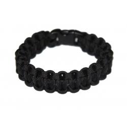 Paracord bangle Salomon black, Size M
