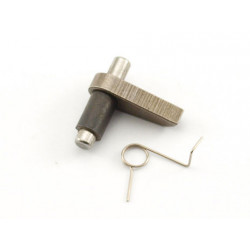 Antireversal latch with the spring