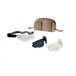 Tactical Goggles Bolle COMBAT - 3x glass - TAN