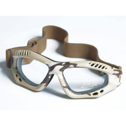 Glasses AIR COMMANDO Mil-Tec DESERT clear