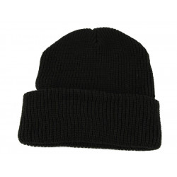 Knitted hat polyacryl BLACK