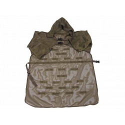 Camouflage mesh cloak with eyelet and hood Olive Drab