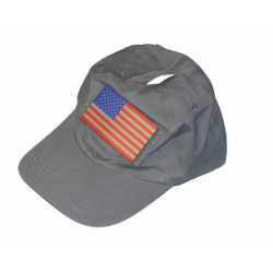 Čepice Special Forces šedá s barevnou vlaječkou