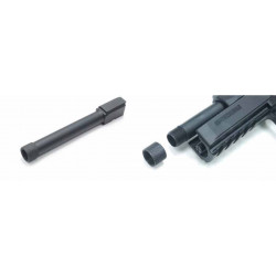 Threaded metal outer barrel, for CZ P-09