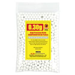 High Precision Made - 0.30g BB Pellets (1000 rounds, Bag)