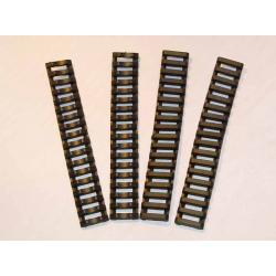 18-Slot Ladder LowPro Rail Cover  BK