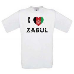 T-shirt I LOVE ZABUL, white, size L