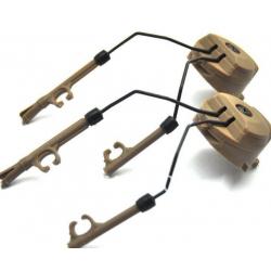 Rail adapter set na helmu pro headset Peltor - pískový
