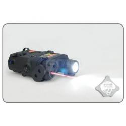 FMA AN-PEQ-15 Upgrade Version  LED White light with IR Lenses + Red laser - BK