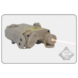 Box na baterii AN/PEQ15 + červený laser, pískový