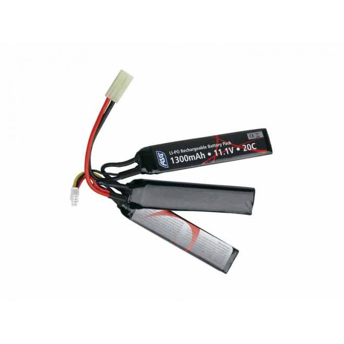 Baterie ASG 11,1V / 1300mAh 25C Li-Pol trojdílná
