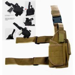 Tactical leg holster Tornado, khaki