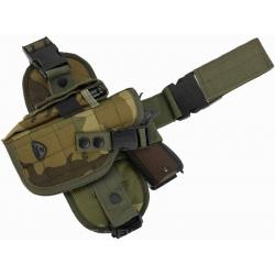 Stehenní panel s pouzdrem na pistol pro leváky - woodland
