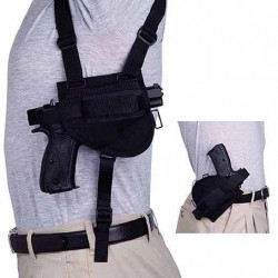 Shoulder holster horizontal combinate with JRZ for pistol Pi. SIG P 226/228, HK-USP, Beretta 92, GLOCK 17/19