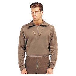 U.S. functional shirt with zipper BROWN