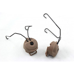 Rail adapter set na helmu pro headset SORDIN - pískový