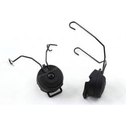 Rail adapter set na helmu pro headset SORDIN - černý