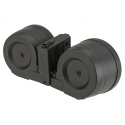 A&K 2500Rds Dual Drum Mag for SR25 Series ( Sound Activited )