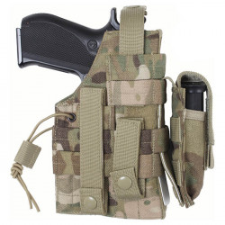 Pouzdro pistolové oboustranné MOLLE MULTICAM