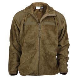 Bunda fleece GEN III/LEVEL 3 ECWCS COYOTE, velikost S
