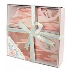 Set dárkový INFANT na batole BABY PINK CAMO