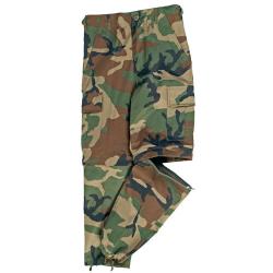 U.S. BDU pants children ZIP-OFF WOODLAND, size XS / 116