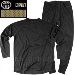 Set underpants and shirt features LEVEL 1 BLACK, SIZE XS