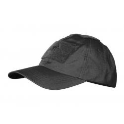Baseball Cap rip-stop with velcro BLACK