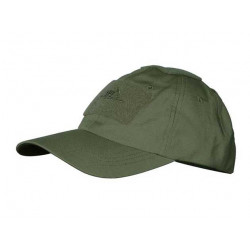 Baseball Cap rip-stop with velcro OLIVE GREEN
