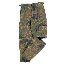 Kalhoty dětské US BDU ZIP-OFF  FLECKTARN, velikost XS