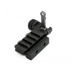 Aluminium KAC type Flip-Up Rear Sight with Small Rail