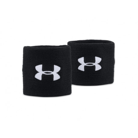 "Under Armour Performance Wristbands 3"", BLACK"