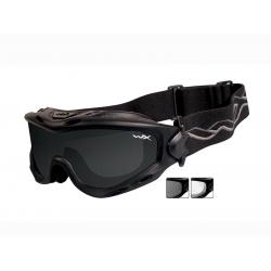 Brýle SPEAR Smoke grey - clear/Matte black frame