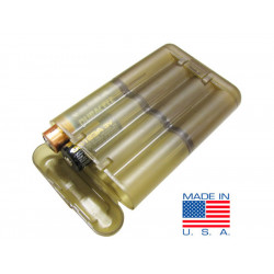 Plastic battery case TAN for AA,AAA,CR123