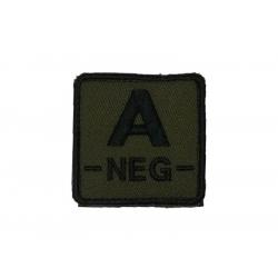 ID. krevní skupiny na suchý zip - A - NEG - olivová