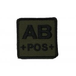 ID. krevní skupiny na suchý zip - AB - POS - olivová