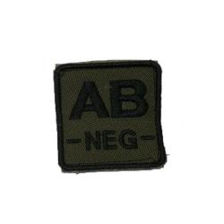 ID. krevní skupiny na suchý zip - AB - NEG - olivová