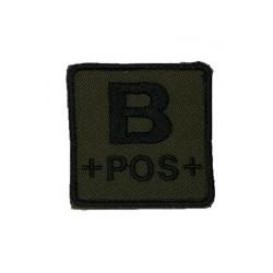 ID. krevní skupiny na suchý zip - B - POS - olivová