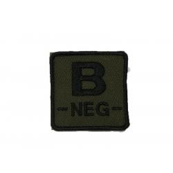 ID. krevní skupiny na suchý zip - B - NEG - olivová