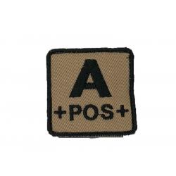 ID. krevní skupiny na suchý zip - A - POS - písková